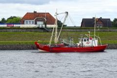 Fischkutter auf der Elbe