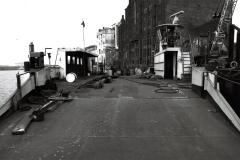 Werftarbeiten an der Spieker Möwe 1992