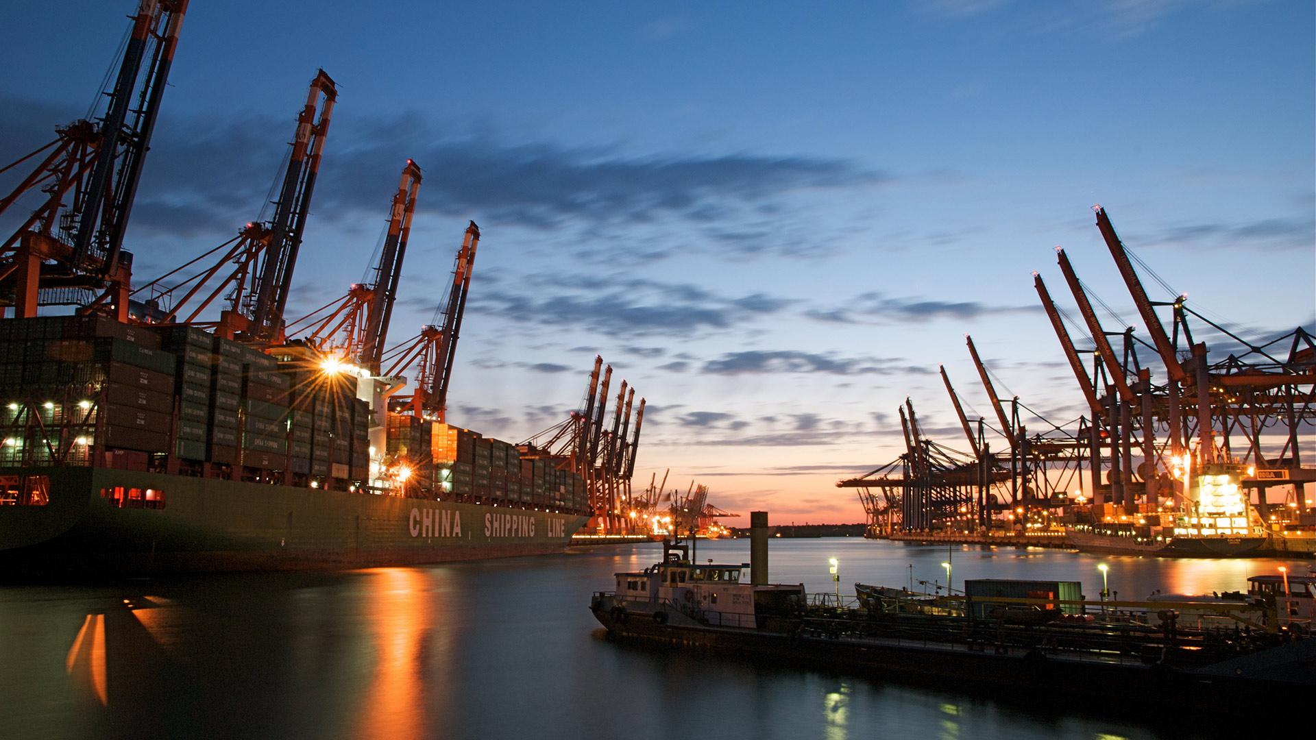 Hamburger Hafen Abends