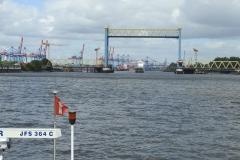 Kattwykbrücke im Hamburger Hafen