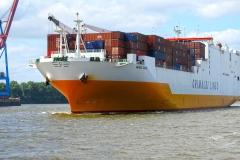 Hamburger Hafen: Grande Dakar der Grimaldi Lines